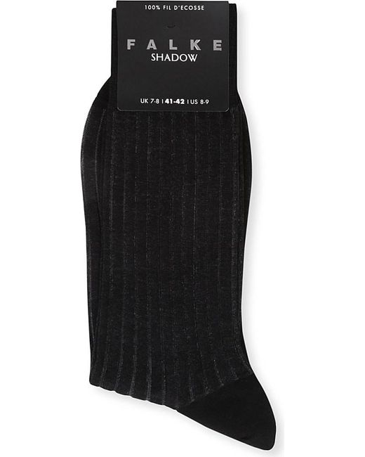 Falke | Black Ribbed Cotton Shadow Socks for Men | Lyst