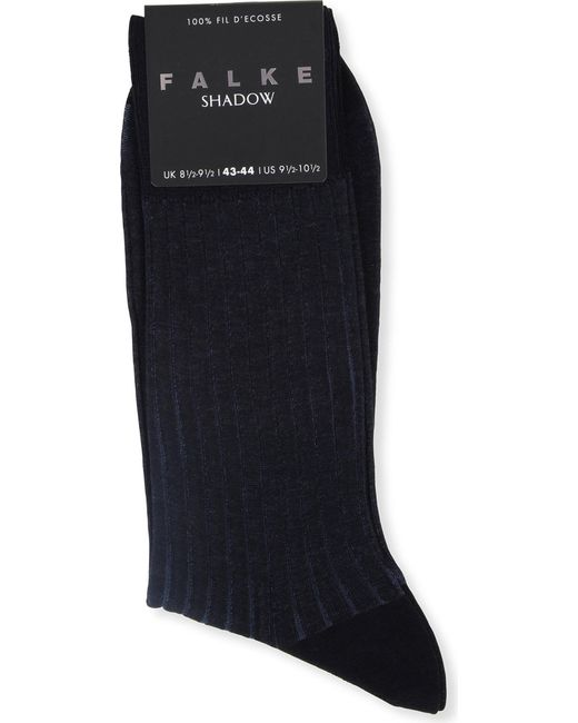 Falke | Blue Ribbed Cotton Shadow Socks for Men | Lyst