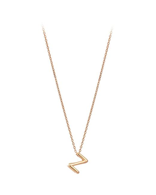 The Alkemistry | Metallic Kismet By Milka 14ct Rose-gold Initial Z Necklace | Lyst