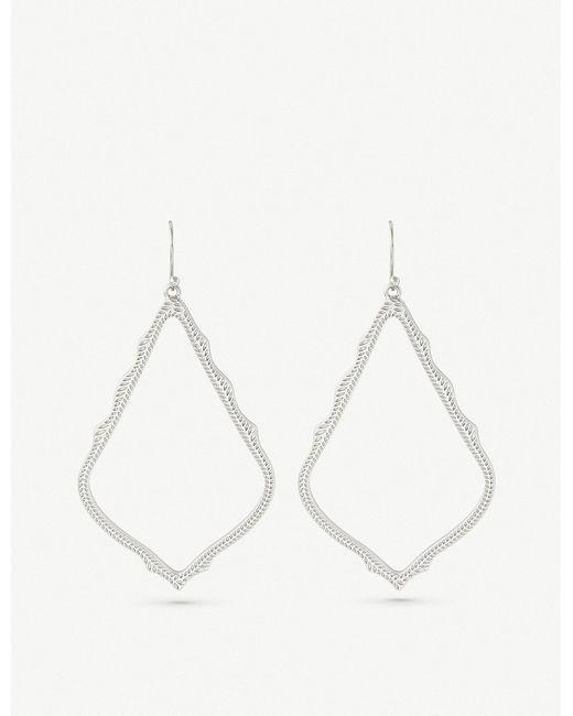 Kendra Scott - Metallic Sophee Rhodium-plated Earrings - Lyst