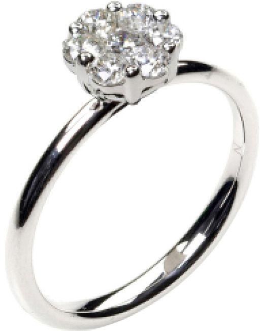 Annoushka | Metallic Daisy 18ct White Gold And Diamond Ring | Lyst
