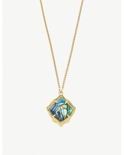 Kendra Scott - Metallic Kacey 14ct Gold-plated And Abalone Shell Necklace - Lyst