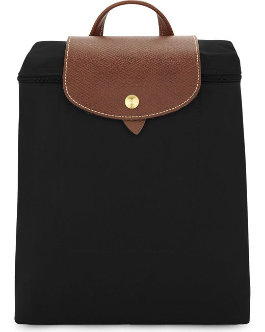 Longchamp   Black Le Pliage Backpack   Lyst