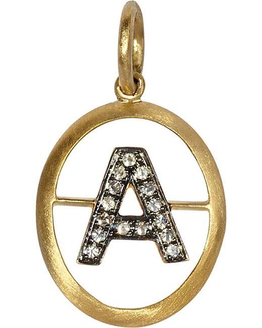 Annoushka | Metallic 18ct Yellow Gold And Diamond A Pendant | Lyst
