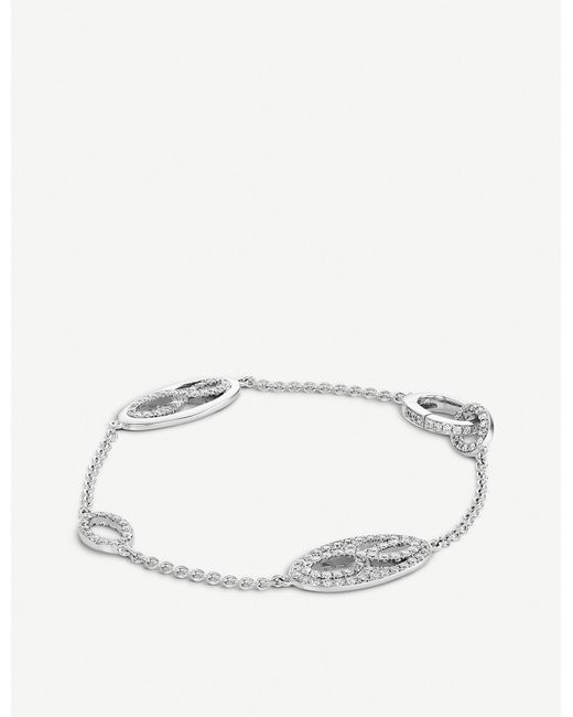 BUCHERER JEWELLERY - 18k White-gold And Diamond Bracelet - Lyst