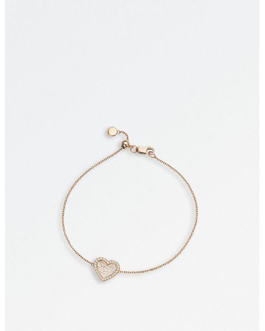 BUCHERER JEWELLERY - Metallic Infinite Love 18ct Rose-gold Diamond Bracelet - Lyst