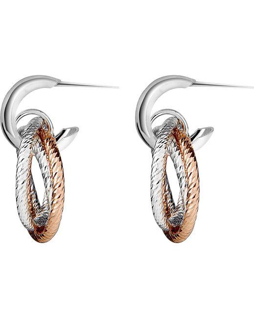 Links of London   Metallic Aurora Sterling Silver And 18ct Rose Gold Vermeil Hoop Earrings   Lyst