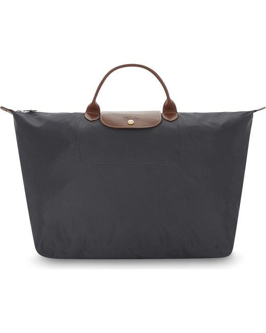 9e19009f689fe Longchamp Le Pliage Medium Nylon Shopper in Black - Lyst