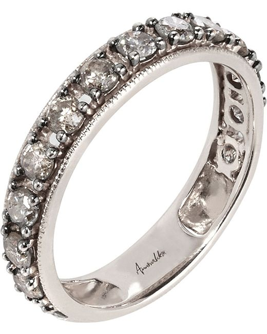 Annoushka | Metallic Dusty Diamonds 18ct White-gold And Diamond Eternity Ring | Lyst