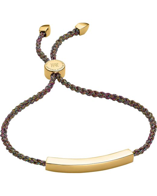 Monica Vinader - Metallic Linear 18ct Gold-plated Friendship Bracelet - Lyst
