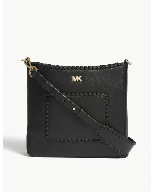 MICHAEL Michael Kors - Black Gloria Whipstitched Messenger Bag - Lyst