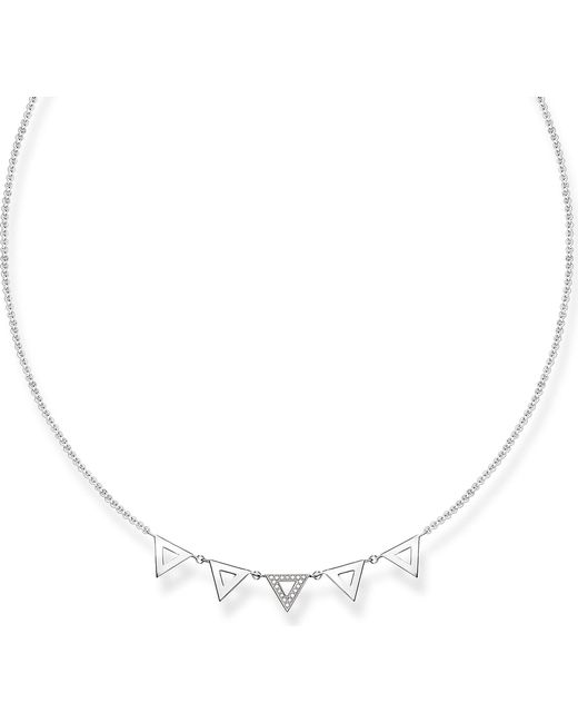 Thomas Sabo - Metallic Triangle Sterling Silver And Diamond Necklace - Lyst