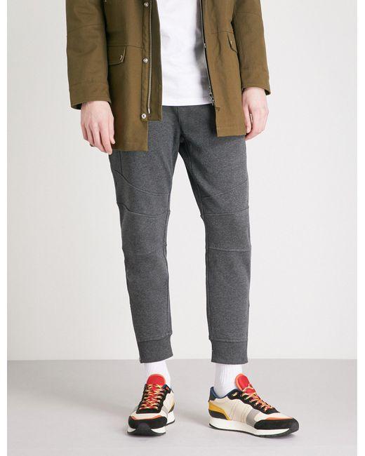 The Kooples - Gray Biker-detail Cotton-jersey jogging Bottoms for Men - Lyst