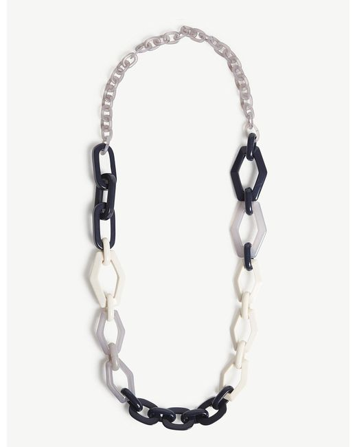 Max Mara - Blue Tivoli Resin Necklace - Lyst