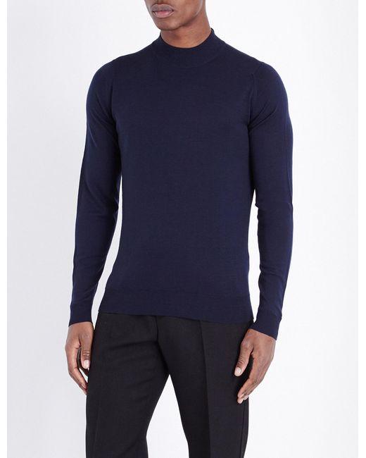 John Smedley - Multicolor Harcourt Wool Jumper for Men - Lyst