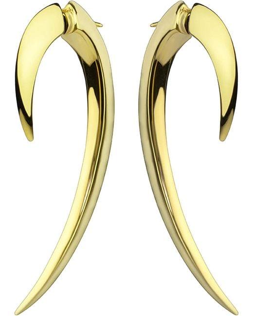 Shaun Leane - Metallic Sterling Silver And Gold Vermeil Hook Earrings Size 1 - Lyst