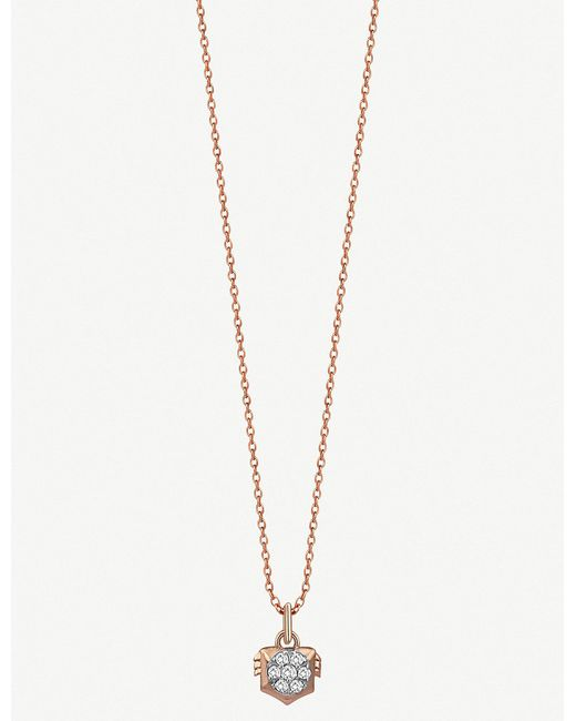 The Alkemistry - Metallic Kismet By Milka Leo 14ct Rose-gold And Diamond Necklace - Lyst