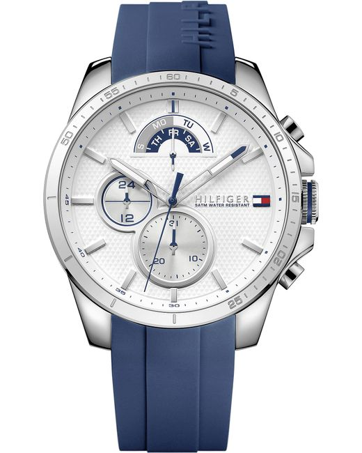 Tommy Hilfiger - Metallic 1791349 Stainless Steel And Rubber Watch for Men - Lyst