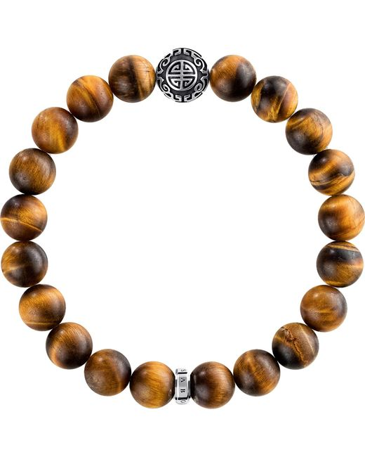 Thomas Sabo - Brown Rebel At Heart Sterling Silver Bracelet - Lyst