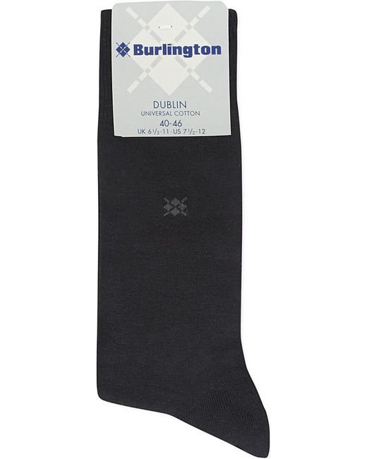Burlington | Black Dublin Cotton Socks for Men | Lyst