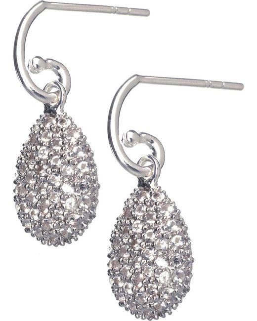 Links of London | Metallic Hope Egg White Topaz Earrings | Lyst