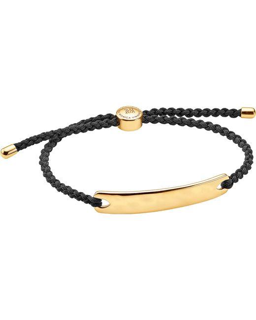 Monica Vinader | Black Havana 18ct Rose Gold-plated Friendship Bracelet | Lyst