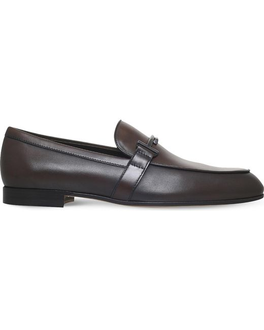 Tod's - Brown Leather Moccasins for Men - Lyst