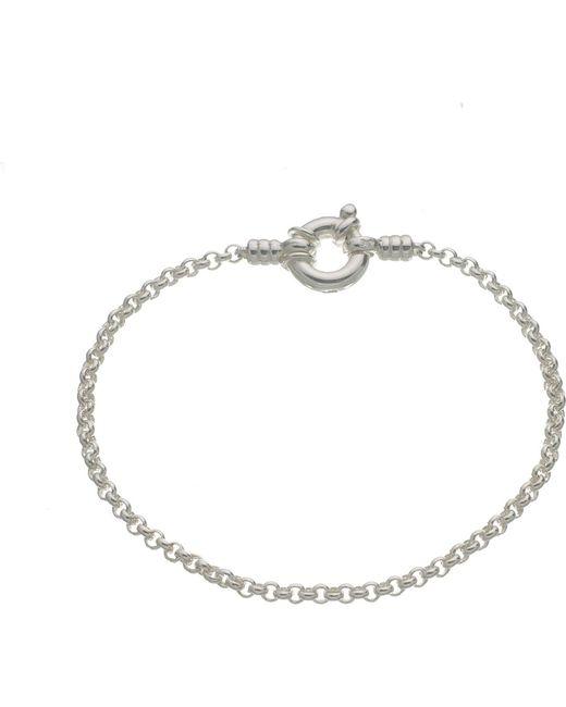 Links of London   Metallic Mini Belcher Sterling Silver Bracelet   Lyst
