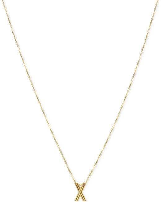 Maje | Metallic 'x' Initial Pendant Necklace | Lyst