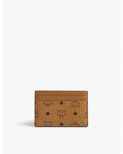 MCM - Brown Coated Canvas Card Holder - Lyst