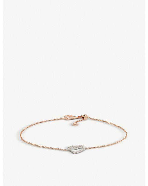 Annoushka - Metallic Rose & White Gold Love Diamonds Heart Bracelet - Lyst