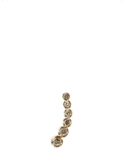 Annoushka - Metallic Dusty Diamonds 18ct Rose-gold And Diamond Left Ear Pin - Lyst