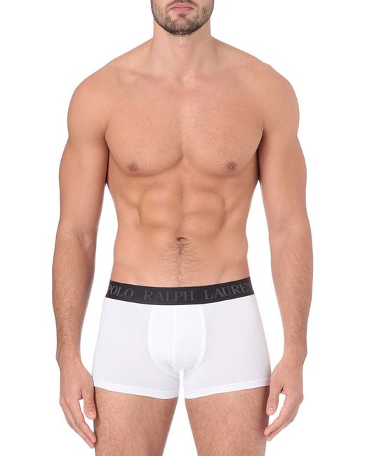 Polo Ralph Lauren | White Logo-embroidered Trunks for Men | Lyst