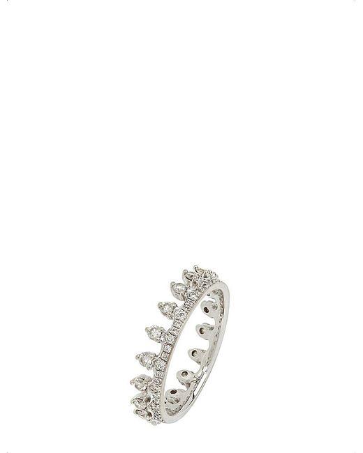 Annoushka   Metallic 18ct White Gold And Diamond Crown Ring   Lyst