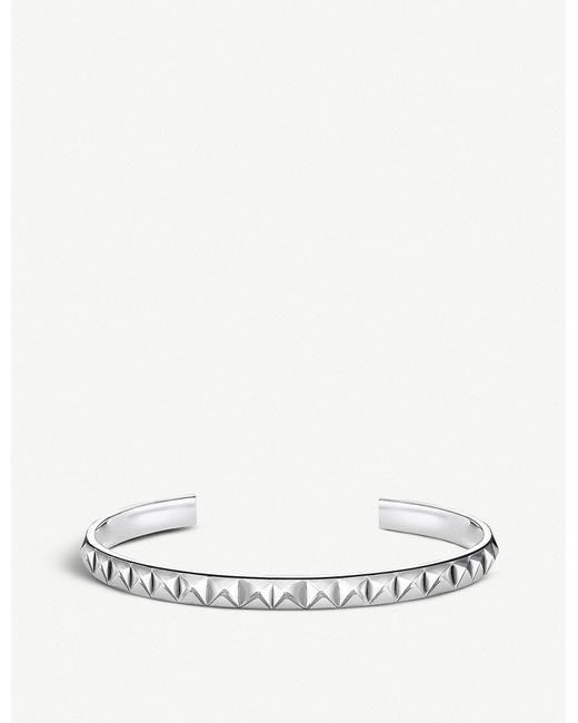 Thomas Sabo - Metallic Pyramid Studded Sterling Silver Bangle - Lyst