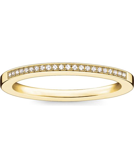 Thomas Sabo - Black Infinity 18ct Yellow Gold-plated Diamond Band - Lyst
