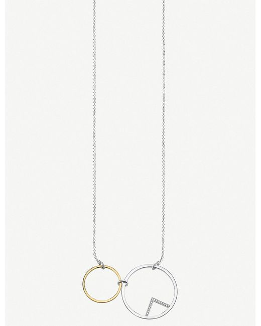 Thomas Sabo - Metallic Glam & Soul Circle Sterling Silver And 18ct Gold-plated Necklace - Lyst