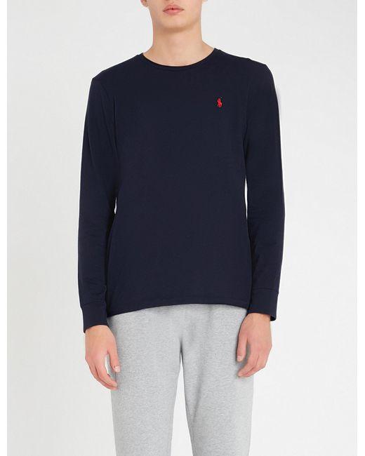 188182c9038d Lyst - Polo Ralph Lauren Custom Slim-fit Cotton-jersey Top in Blue ...