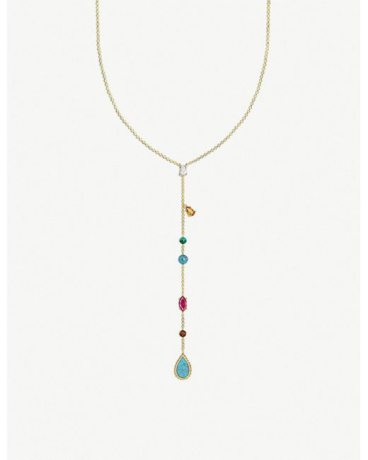 Thomas Sabo - Metallic Riviera Colours 18ct Yellow-gold Plated Necklace - Lyst