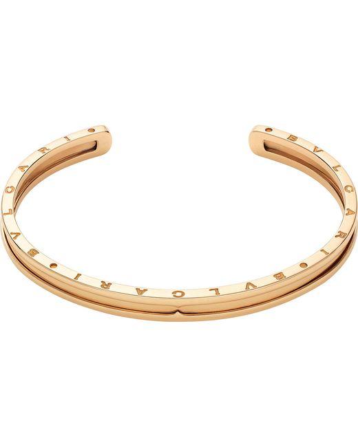 BVLGARI | Metallic B.zero1 18ct Pink-gold Bracelet Cuff | Lyst