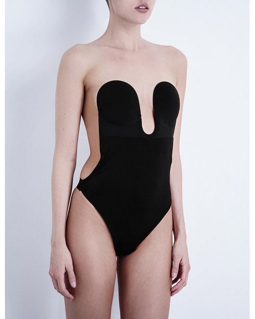 Fashion Forms | Black U Plunge Bodysuit | Lyst