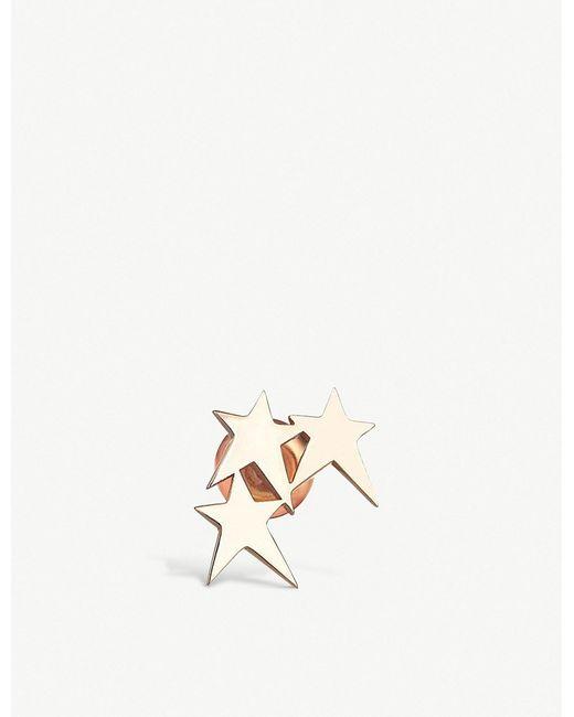 The Alkemistry - Metallic Kismet By Milka 3 Stars 14ct Rose-gold Ear Cuff - Lyst