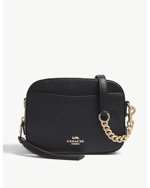 d4eee4406 Lyst - COACH Ladies Black Leather Camera Bag in Black