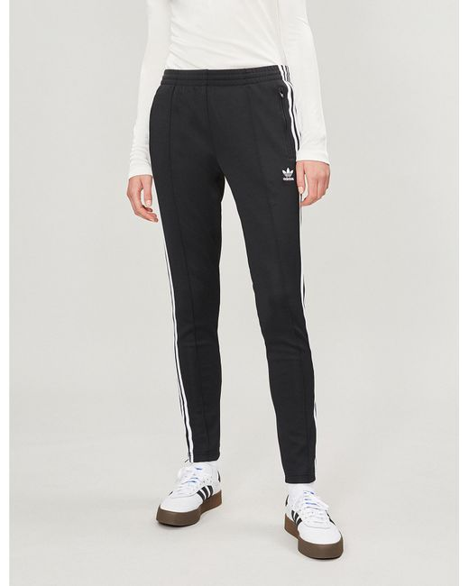 9a3298c144a53 Adidas Originals - Black Sst 3-stripe Jersey Jogging Bottoms for Men - Lyst