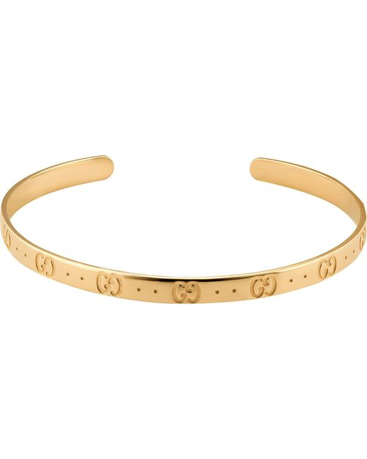 Gucci - Metallic Icon 18ct Yellow Gold Bracelet for Men - Lyst