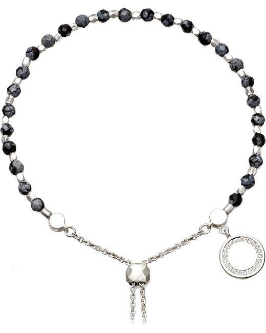 Astley Clarke   Metallic Thundercloud Sterling Silver, Obsidian And Sapphire Kula Bracelet   Lyst