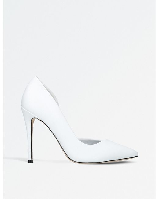 Miss Kg - White Alexandra Half-d'orsay Court Shoes - Lyst
