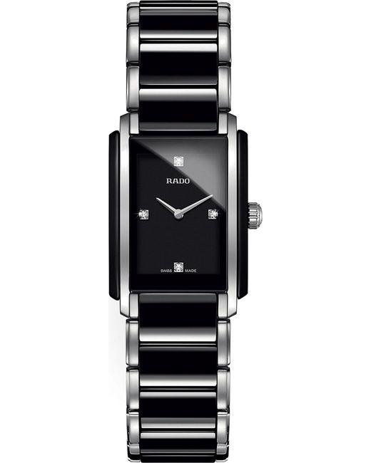 Rado - Black R20613712 Integral Stainless Steel And Ceramic Watch - Lyst