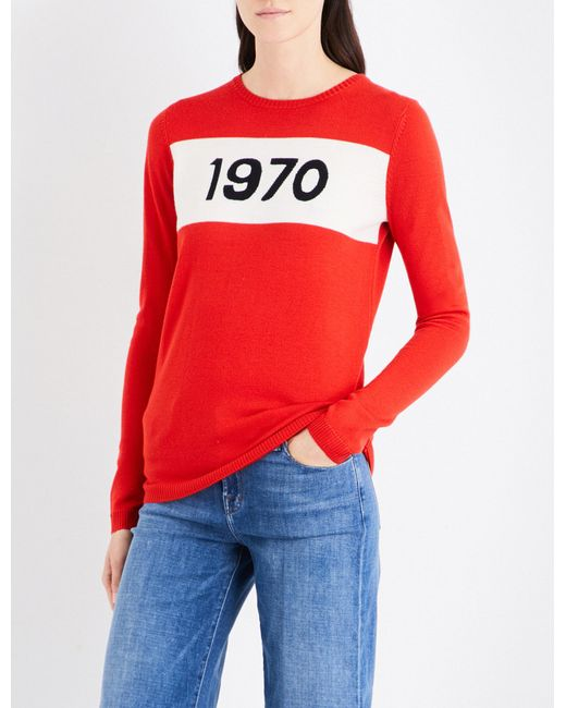 Bella Freud - Red 1970 Wool Jumper - Lyst