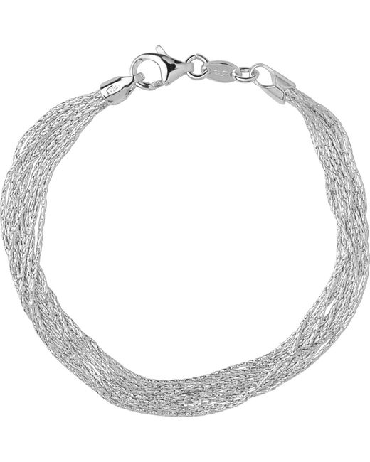 Links of London   Metallic Silk 10 Row Sterling Silver Multi-chain Bracelet   Lyst